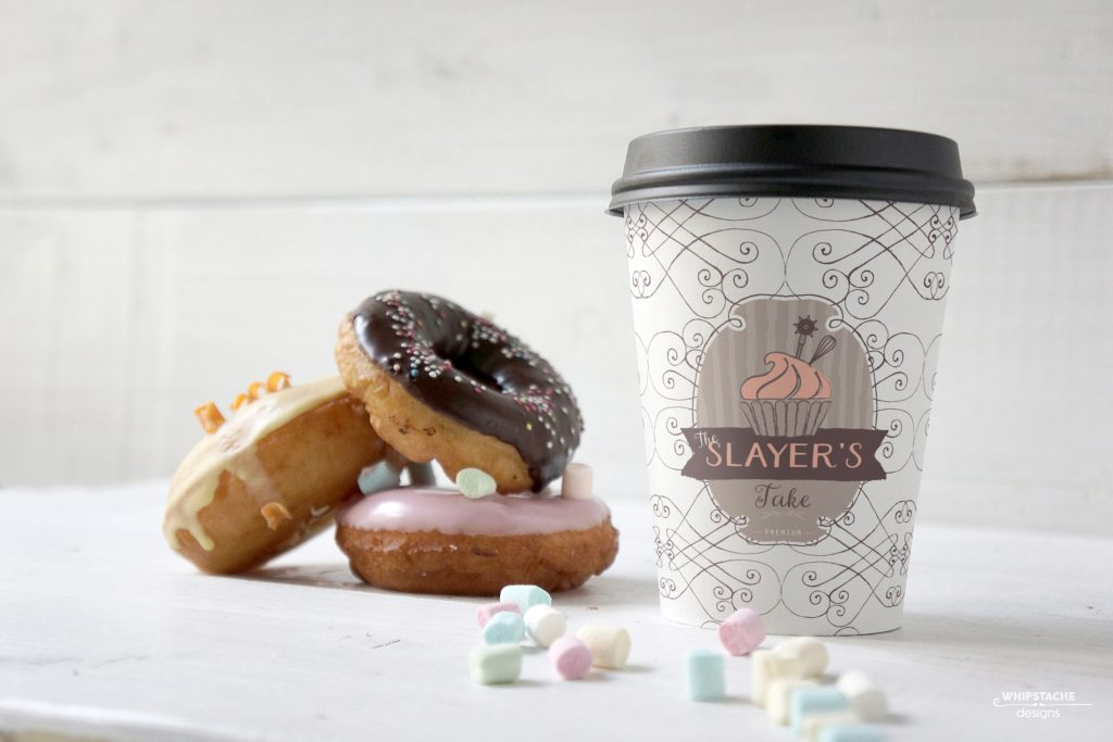 Slayers Cake Donut Coffee Cup Mockup@0,5x