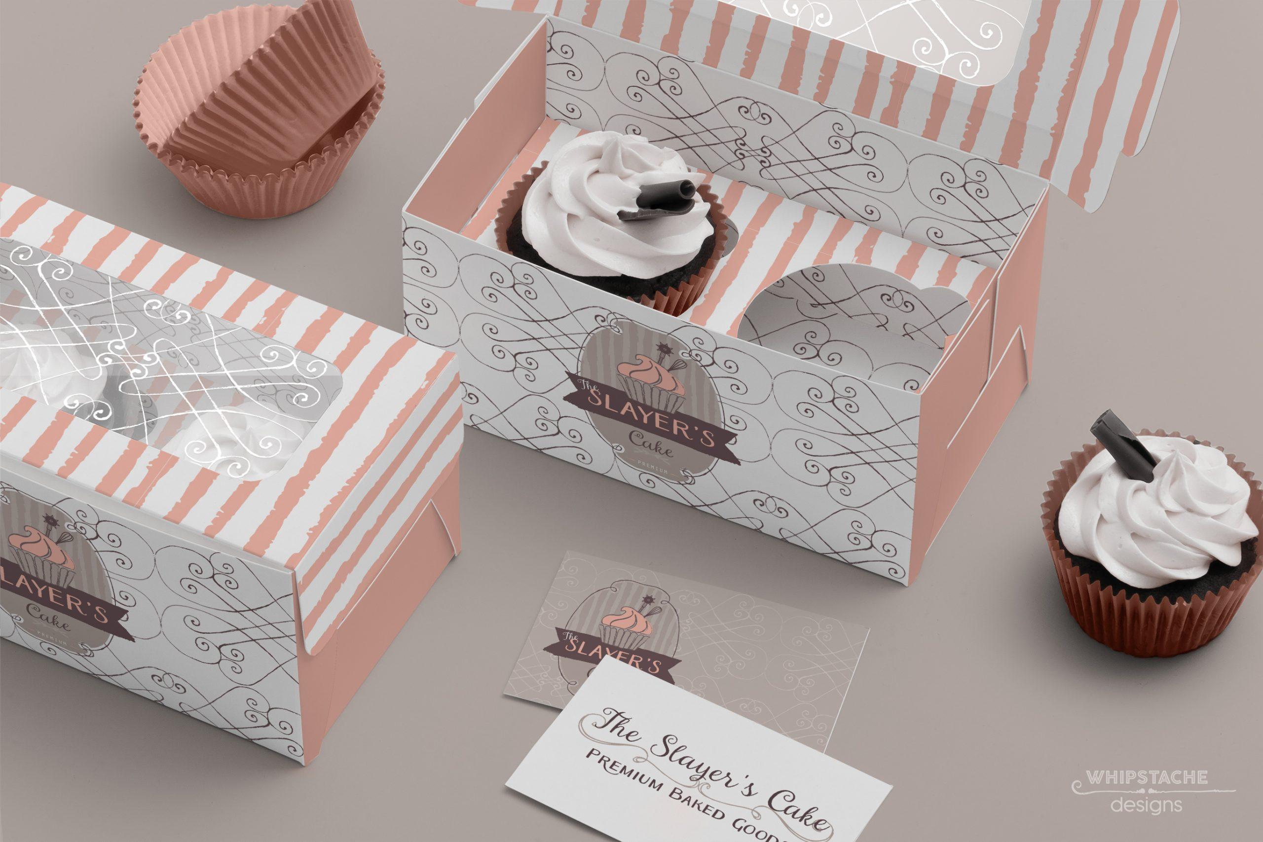 Slayers Cake Two Cupcake Box Mockup@0,5x